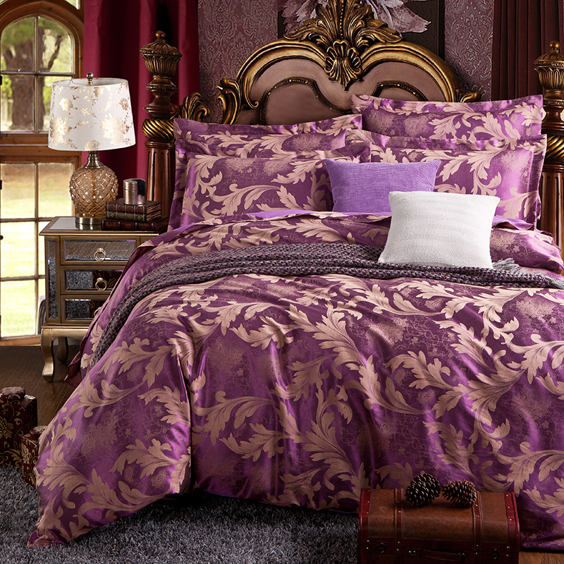 2016 Arrival 4pcs Of Bedding Set Include Duvet Cover Bed Sheet Pillowcases Satin