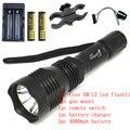 Uniquefire HS-802 кри XM-L2 2000 lumens из светодиодов нью-охота фонарик факел + 4000 мАч 18650 + зарядное устройство + дистанционный переключатель + артиллерийская установка