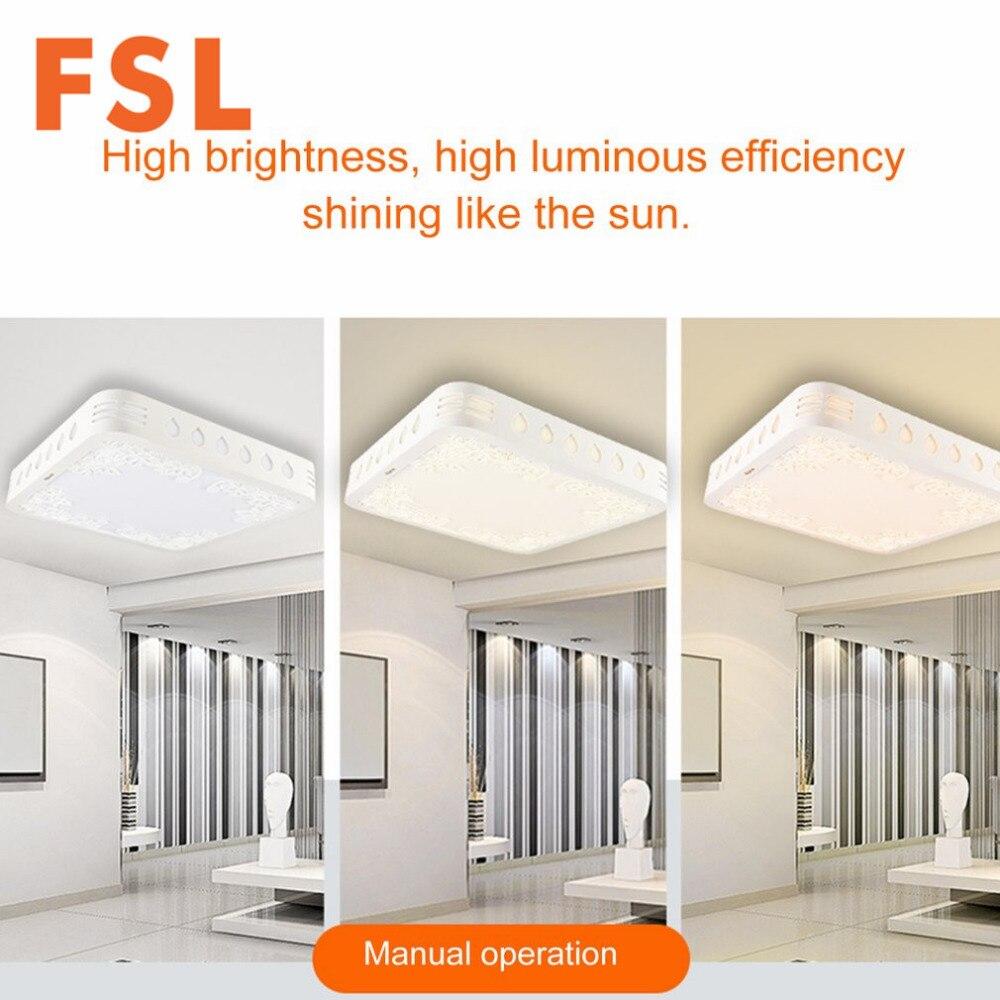 FSL LED izdubljen Carving Cvjetni uzorak Kvadratna stropna rasvjeta 3 - Unutarnja rasvjeta - Foto 2