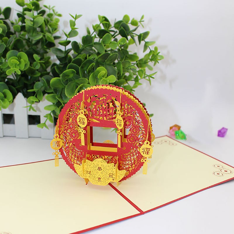 1PC 2019 New 3D Pop Up The Dog Greeting Card Christmas Birthday New Year Invitation Party Supplies Wedding Invitations