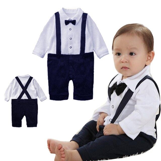 68ac420bdd78 2016 Retailed New Handsome Boy Summer Newborn Style Baby Romper Suit ...