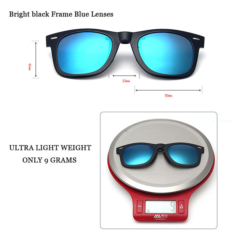 a29cd19013 VEGA Polarized Clip On Sunglasses Over Prescription Glasses With Box ...