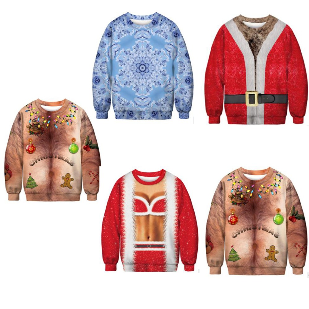 PLstar Cosmos Hot Sale Men/Women 3d Sweatshirt Christmas Festival Gift New Year Funny Santa Harajuku Casual Pullover Size S-5XL