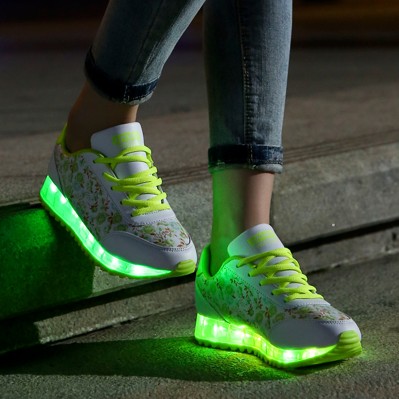 women Led Shoes7 Colors Led Luminous shoes woMen High Top LED Shoes For Adults Usb Charging Led Lights Up Shoes  Casual shoes удочка комплект зимняя lucky john predator set