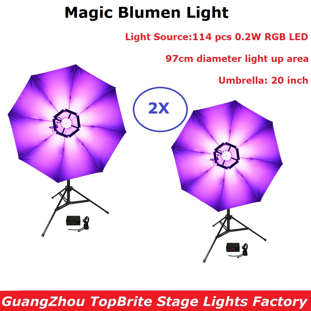 Led 114pcs 0.2w Dmx512 Magic Blumen Light High Bright Rgb 3in1 Lights Dj Disco Club Stage Light Effect Umbrella Colours Lamp Stage Lighting Effect Commercial Lighting