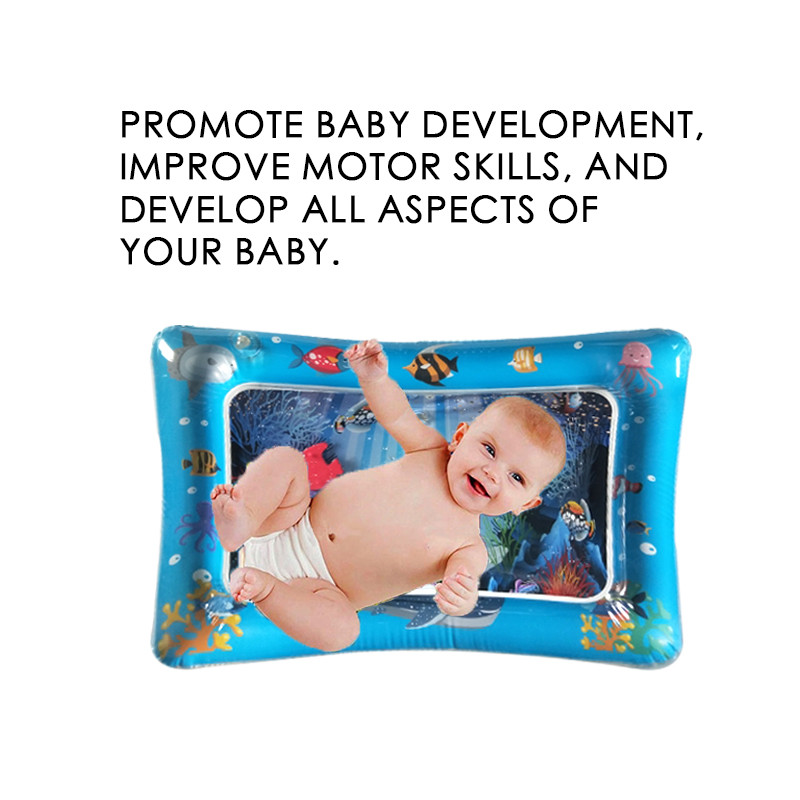 HTB1DRpSNXzqK1RjSZFoq6zfcXXac Baby Inflatable Water filled Cushion kids rug Toys For children baby play mats toy Water Fun For summer Gift