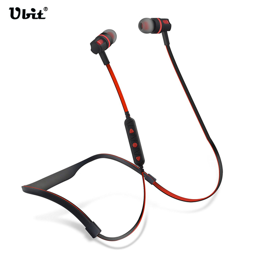 Ubit Flex 2 Earphones Running Gym Bass And Noise Reduction Headphones Wireless Sports Waterproof Bluetooth Headset With Mic elivebuy one drag two bluetooth earphones hd sound stereo bass wireless headset noise reduction running mp3 music earbuds