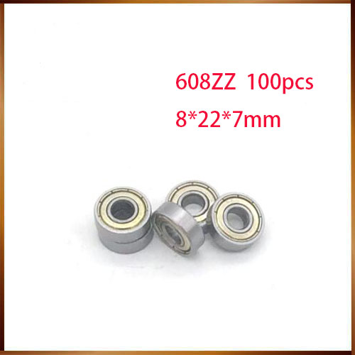 608zz abec 100pcs 608zz 608z 8x22x7 mm Bearing Abec 7  carbon Miniature 608 Zz Longboard Skateboard Ball Bearings 608 2z-in Shafts from Home Improvement    1