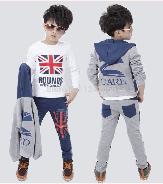 b378eb46b193 Boys Girls Jeans Clothing Coat outerwear+t shirt+pant sport suit ...