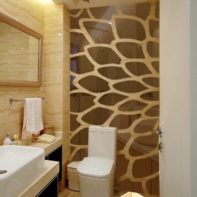 DIY plant boom patroon ronde dot 3d muursticker interieur grote muur spiegel slaapkamer bed hoofd decal stickers muuraffiche R101 - 3