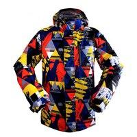 Новые зимние лыжные куртки мужские Высокое качество наружные ветрозащитные непромокаемые утолщенные походные альпинистские зимние сноуб