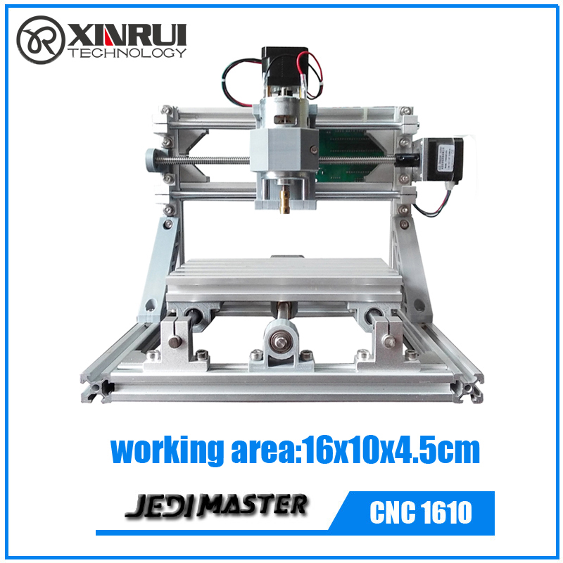 CNC 1610 GRBL DIY CNC machine 3 Axis Pcb Pvc Milling Machine Wood Carving Wood Router full set of spare parts+10 pcs drill bits 10 60 90 120 a wood cnc router bits cutting tools for cnc machine