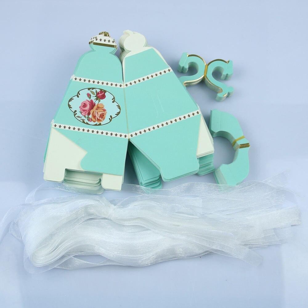 100 шт. Свадебная вечеринка конфеты Коробки свадебной подарки для гостей девичник День рождения коробка конфет сувениры украшения