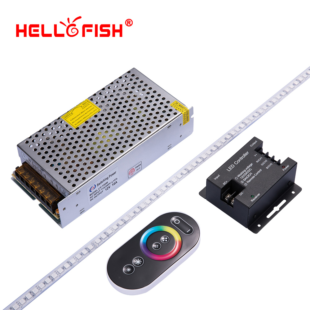 High brightness 5050 led diode strip waterproof DC 12V flexible light stripe 120 LED tape set lights & lighting Hello Fish