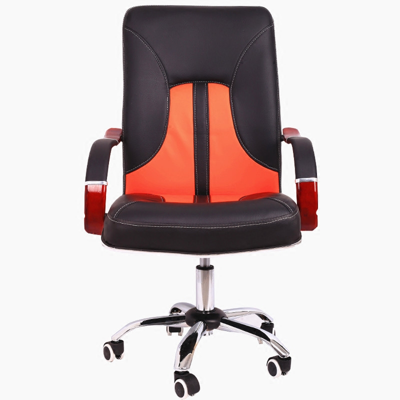 Simple Household Computer Chair Lifted Rotated Office Boss Chair Multi-function Swivel Chair Fixed Wooden Armrest Study Stool simple style lifted office chair staff meeting stool multi function household rotated swivel chair leisure gaming computer chair