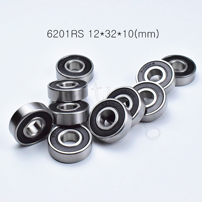 2PCS 6201ZZ Deep Groove Metal Double Shielded Ball Bearing 12mm*32mm*10mm