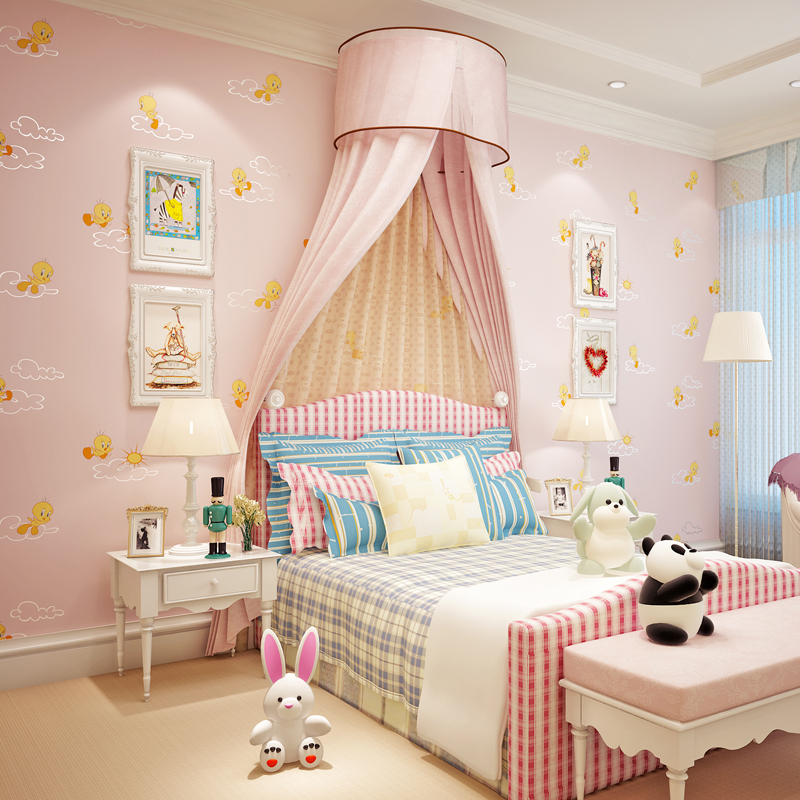 Kids Bedroom Background roll paper cutter picture - more detailed picture about cozy pink