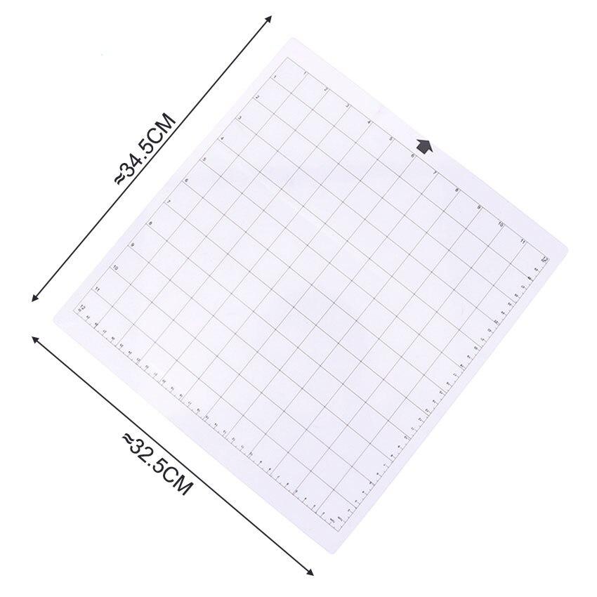 交換用カッティングマット透明な粘着マット、測定グリッド付き12 x 12インチカッティングマットシルエットプロッターマシンカッティングマット