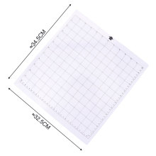 Replacement Cutting Mat Transparent Adhesive Mat With Measuring Grid 12 X 12 Inch Cutting Mat For Silhouette Plotter Machine 3pcs replacement cutting mat transparent adhesive mat with measuring grid for silhouette cameo cricut explore