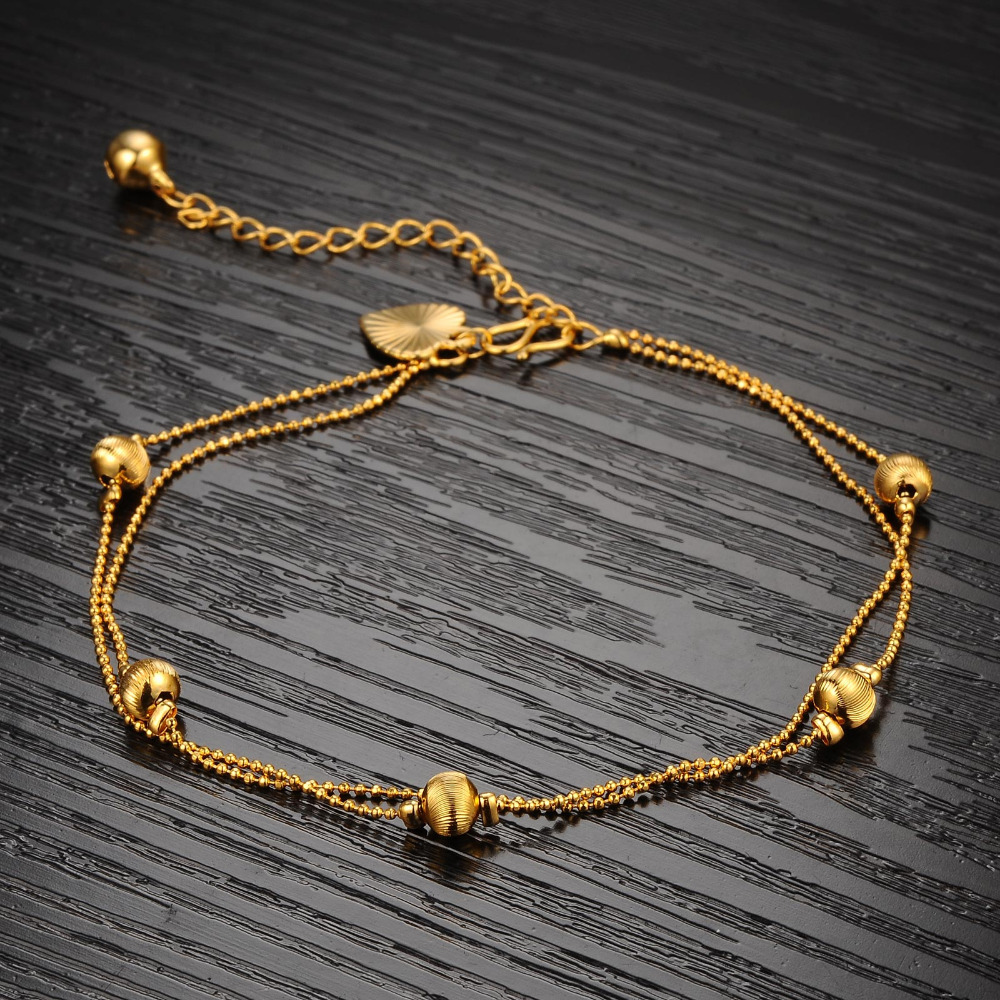 Classic Stylish gold plated Bells Charm Simple Elegant Sexy Anklet ...