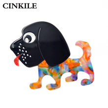 CINKILE Cute Small Dog Brooches for Women Black Head Puppy Brooch Pin Handmade Jewelry New Year Gift for Kids High Quality(China)