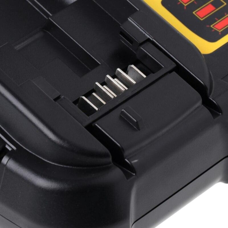 DCB112 Li-ion Battery Charger Replacement For Dewalt 10.8V 14.4V 18V US/EU Plug 2 in 1 us plug 2 slot 18650 li ion battery charger w eu plug adapter black