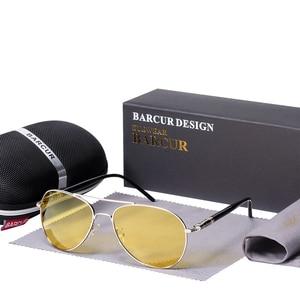 Image 5 - BARCUR солнечные очки ночного видения мужские ночные поляризованные очки для вождения антибликовые очки