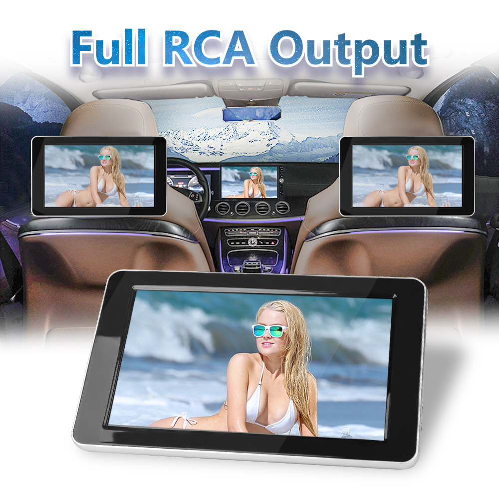 9 inch TFT Color LCD Headrest DVD Monitors 1024x600 HD input Radio AV Monitor for car audio DVD Player
