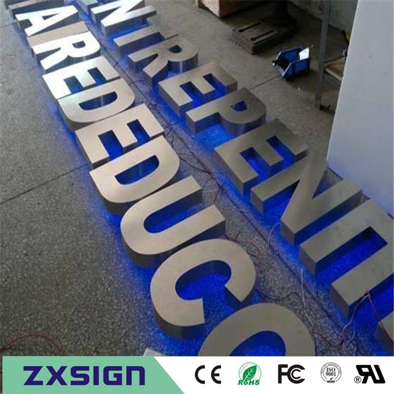 Factory Outlet Stainless Steel Led Backlit Metal Letters, Back Light Up Office Signs