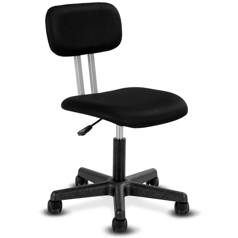 Swivel Height Adjustable Mid-back Mesh Armless Office Chair Strong Practicability Smooth-Rolling Office Home Study Chair HW58813