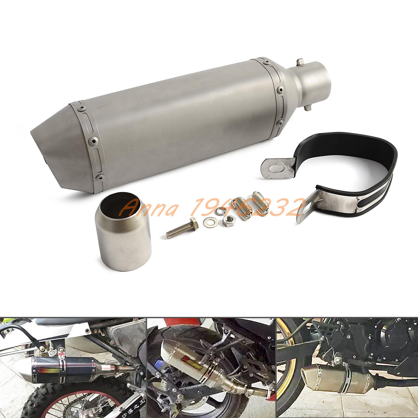 Street Bike Quad: Universal 38 51mm Exhaust Muffler With DB Killer For Dirt