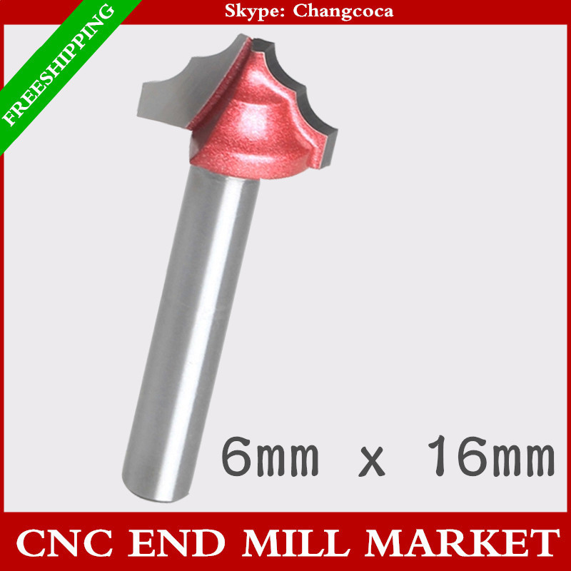 6mm*16mmwood toolCNC machine milling cuttersolid Carbide end millcabinet and door frame knifewoodworking router bitMDFPVC