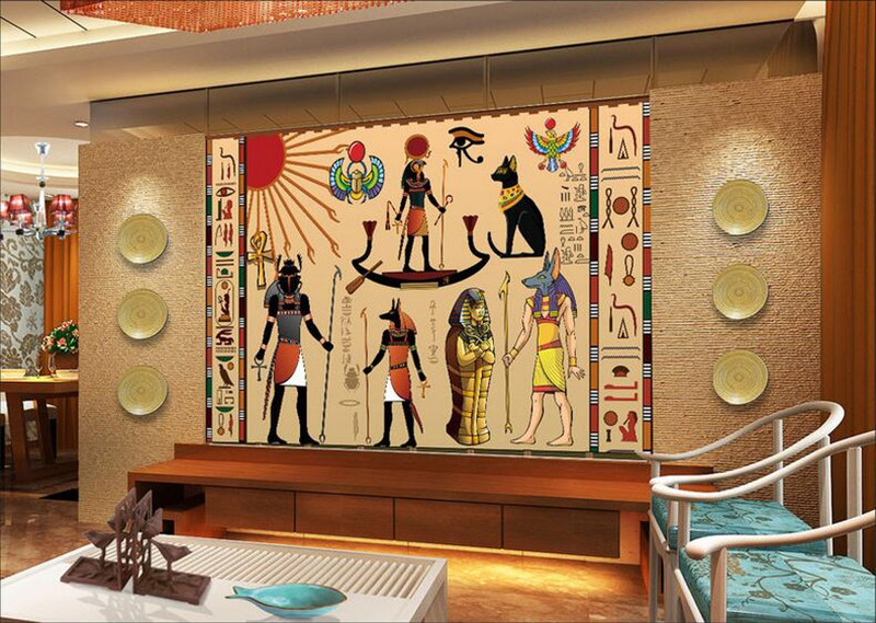 Compare prices on celebrity wall papers online shopping for Egyptian wallpaper mural
