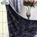 O novo Coreano fresco preto flores sombreamento cortina de pano dupla face cortinas para o quarto e sala de estar