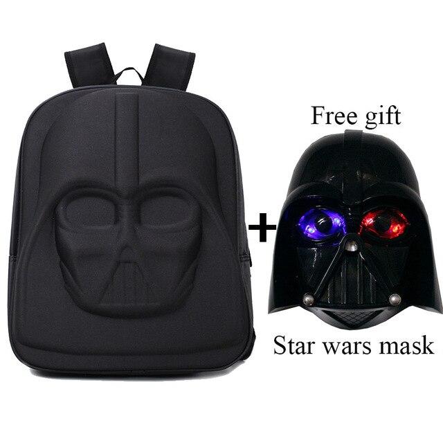 codice promozionale d6183 a54fe US $24.85 50% di SCONTO 3D di star wars zaino Darth Vader zaini con avere  bello regalo libero in 3D di star wars zaino Darth Vader zaini con avere ...