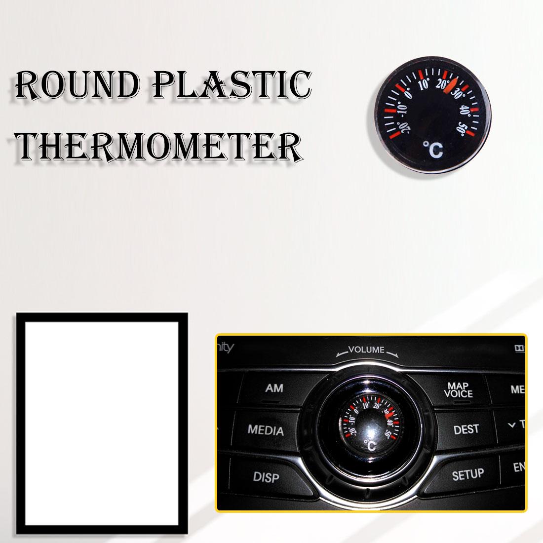 Mini 20mm Plastic Celsius Fahrenheit Thermometer Indoor