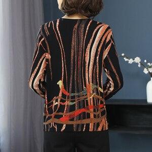 Image 4 - YISU Women Sweater 2019 fashion Spring Autumn Warm Pullovers Sweater stripe Printed Sweaters Female Knitted sweaters Female