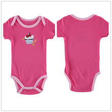 Baby Boy Girl Clothes Short Sleeve Red 2016 Summer Baby Romper Ice Cream Newborn Next Jumpsuits & Rompers Baby Product R044