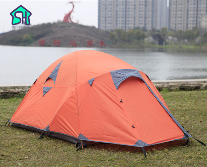 STARHOME Ultralight Tent 2.8kg 2 Person Camping Tent Hiking Waterproof Aluminum Pole Outdoor Beach Tent outdoor waterproof folding ultralight camping tent 1 2 person double door fishing tourist tent beach tent hiking family tent