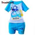 100% Cotton Baby Boys Girls Clothing Set Children Shirt + Pants Set Kids Cartoon Clothes Casual Suits 5 Design 2015 Summer