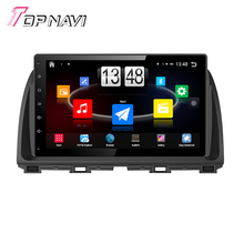 "Free Shipping 10.1"" Quad Core Android 4.4 Car PC Stereo GPS For Mazda CX-5 With Radio Map Multimedia Mirror Link Without DVD"