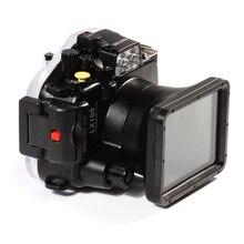 Meikon LX100 40 m 130ft boîtier étanche sous marin caméra housse de plongée pour Panasonic DMC LX100 24 75mm