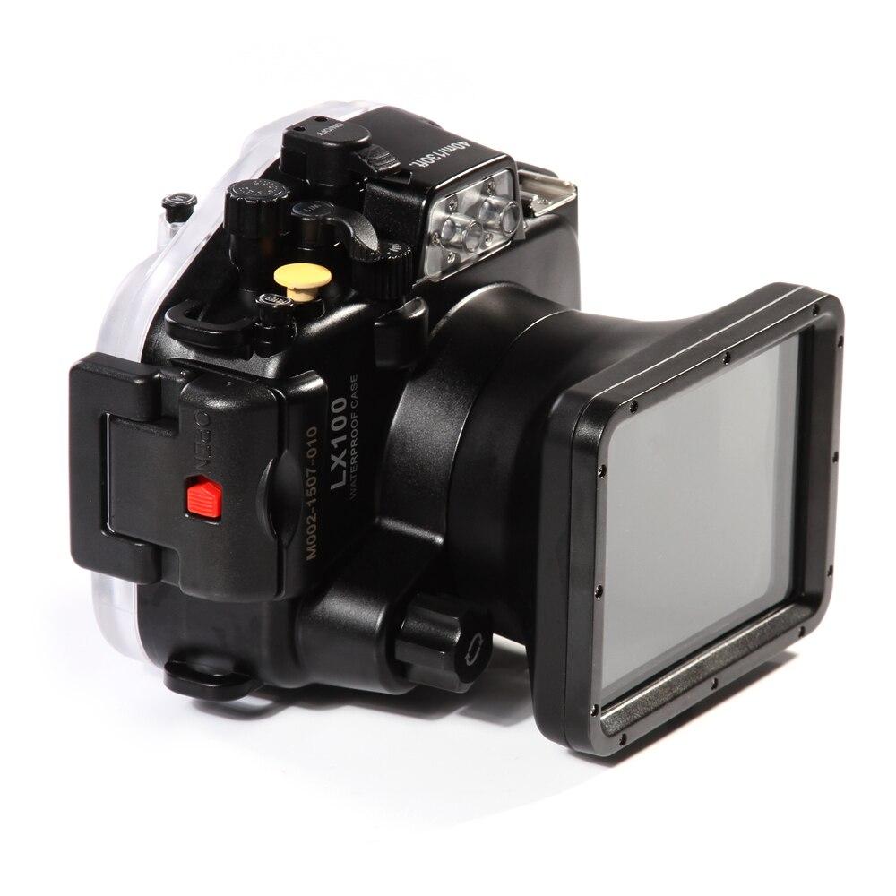 Meikon LX100 40m 130ft Waterproof Underwater Housing Camera Diving Case Cover for Panasonic DMC-LX100 24-75mm