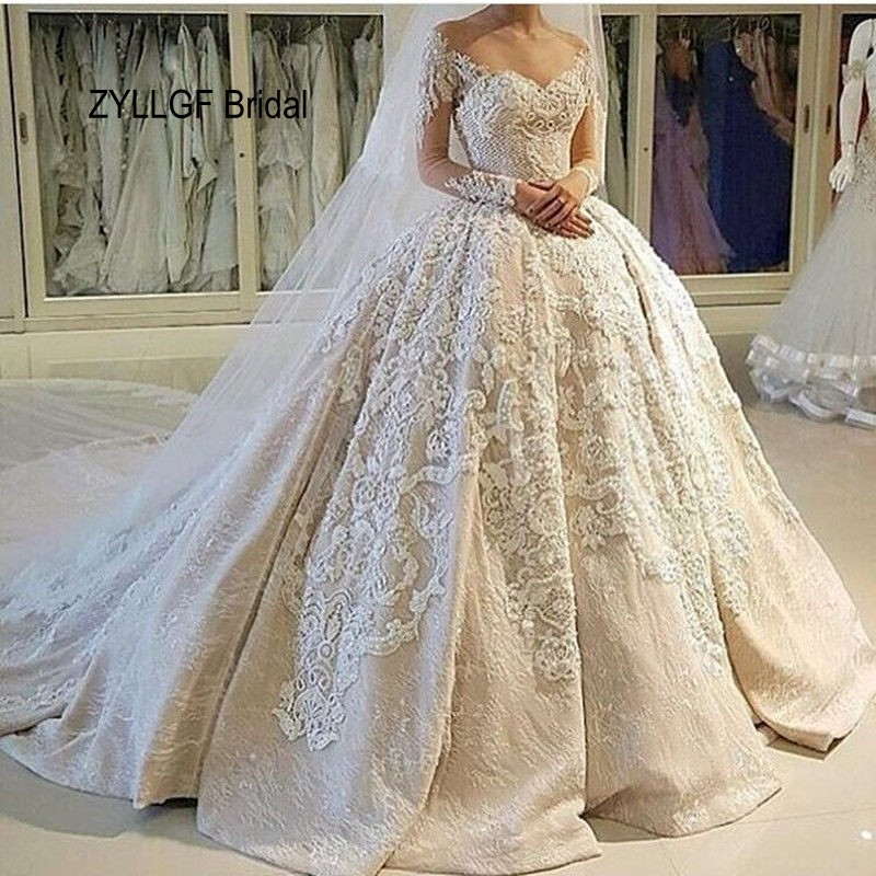 Zyllgf bridal middle east 2017 wedding dresses long for Expensive plus size wedding dresses
