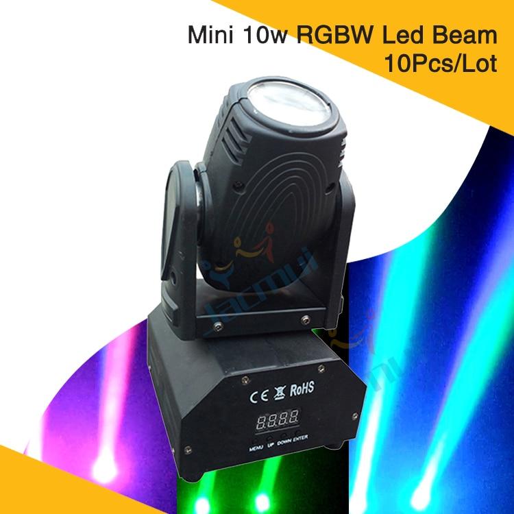 10pcs Disco Club DJ Wedding Stage Lighting Mini 10w RGBW Led Beam Moving Head Light10pcs Disco Club DJ Wedding Stage Lighting Mini 10w RGBW Led Beam Moving Head Light