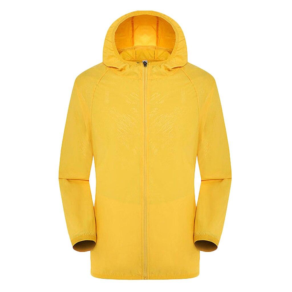 Men's Women Casual Jackets Plus Size Candy Color Windproof Ultra-Light Rainproof Windbreaker Hooded Coat Jackets 17