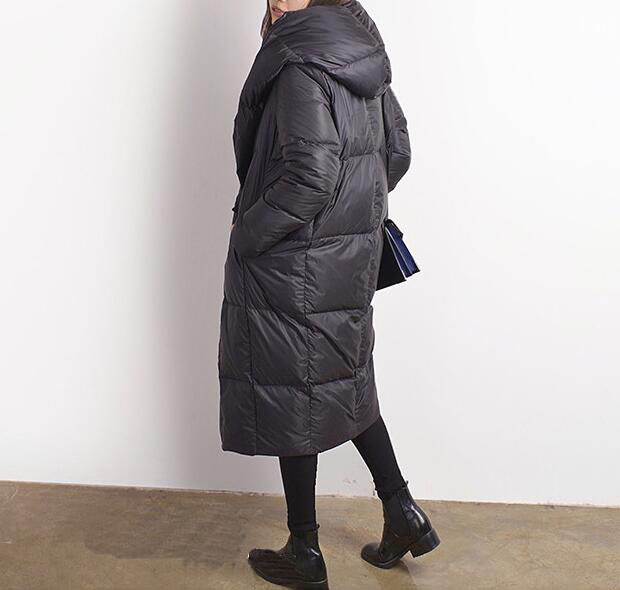 Le Femmes Vers ligne Style Veste D'hiver Bas Cape A Manteau W2YIDEH9