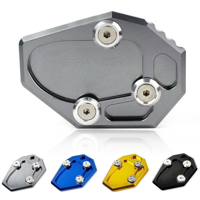Side Stand Enlarge Kickstand Pad Plate for Suzuki GSXS1000F 15-16 Titanium