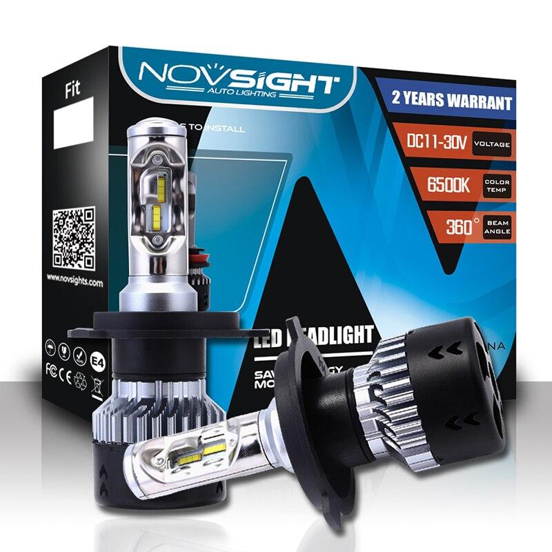 NovSight N7 2 шт. H4 автомобильных фар H7 светодио дный фары H1 H3 H13 H15 9005 9006 H11 лампы 10000LM 70 Вт светодио дный света автомобиля