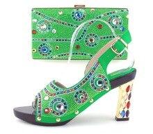 Heißer Künstler Neue Ankunft Italienisches Design Schuhe Und Abendtasche Set mode Hohe Qualität Slipper Schuhe Und Tasche Set Für Party TH16-43